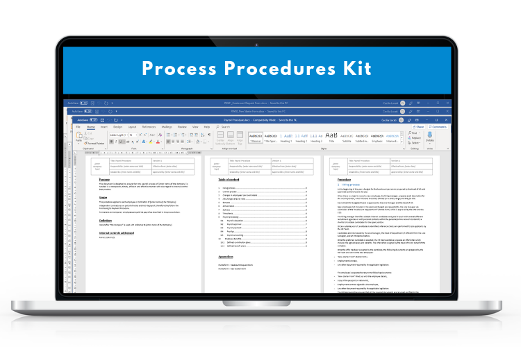 Process procedures kit
